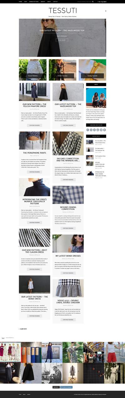 Sew Tessuti Blog